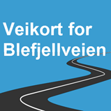 Veikort for Blefjellveien